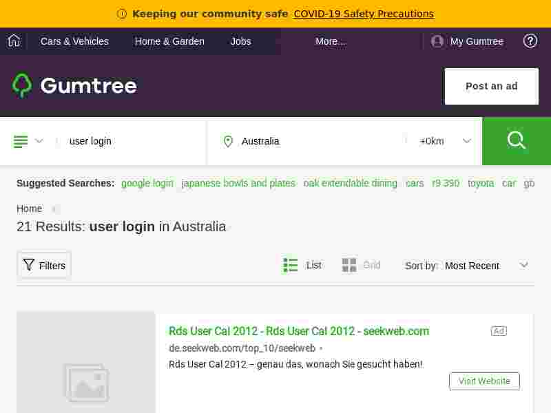 My gumtree sign in